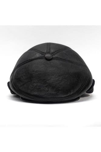 Leather Hat Black